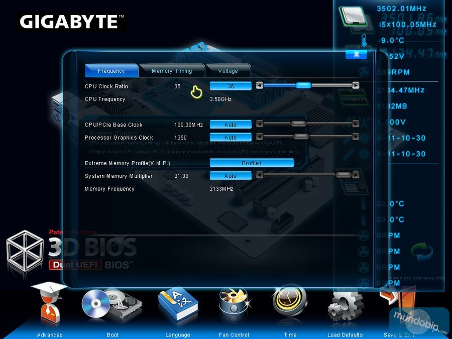 BIOS XI Gigabyte GA-Z77X-UP7