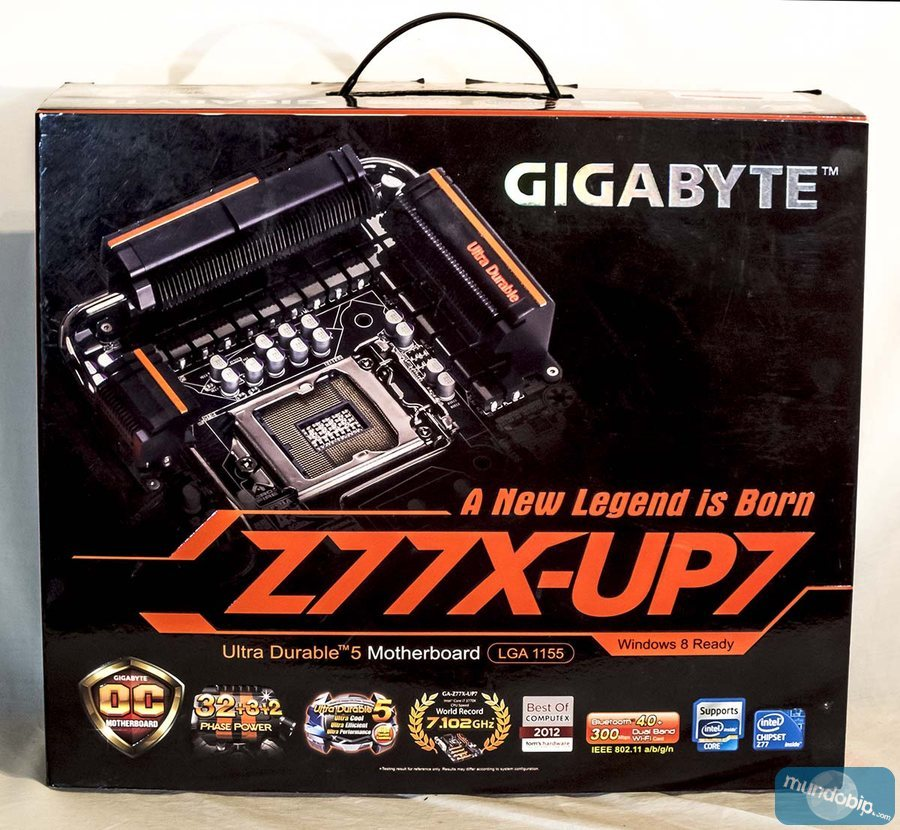 Frontal caja Gigabyte GA-Z77X-UP7