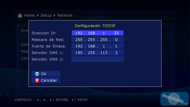 Configurar IP Dune HD Base 3.0