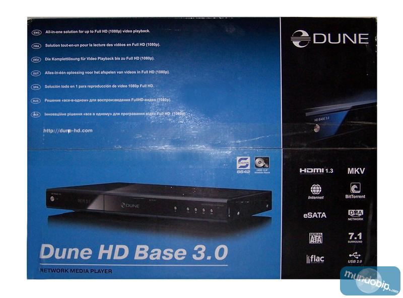 Frontal caja Dune HD Base 3.0