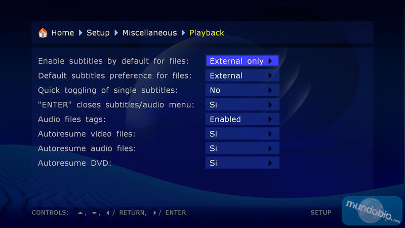 Configuración playback Dune HD Base 3.0